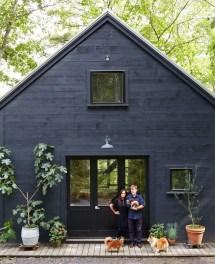 Dark Blue Exterior House Color