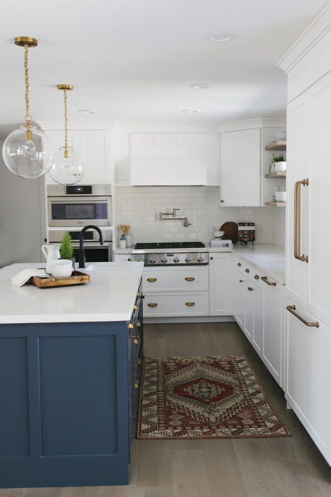 blue kitchen island large sink 15 gorgeous white kitchens with coloured islands the happy housie beautiful crisp and stunning navy in an all via house of jade interiors brass fixtures deep rich definitely elevate