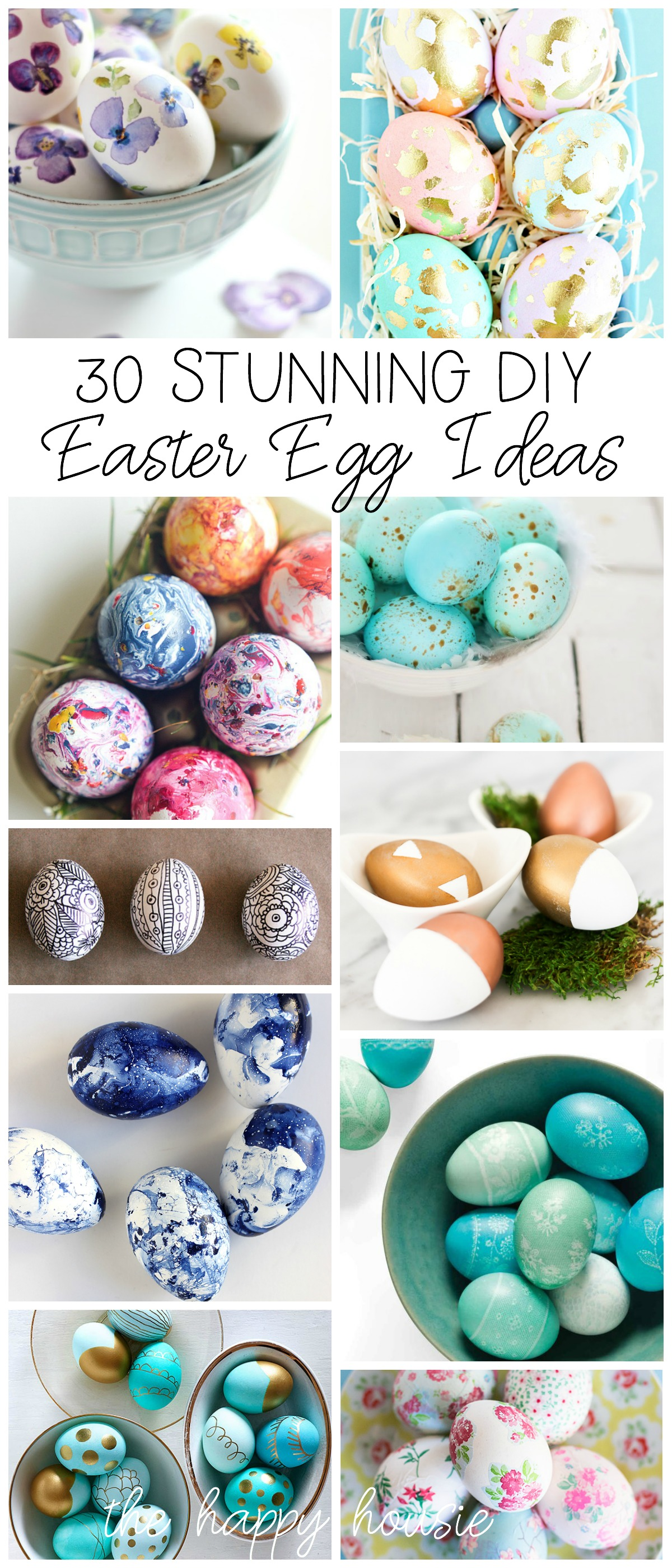 30 Stunning Diy Easter Egg Decorating Ideas The Happy Housie