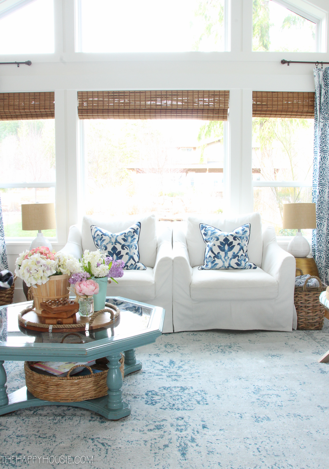 spring living room tour the happy housie