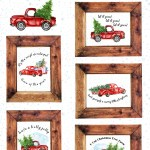 5 Free Vintage Truck Christmas Printables The Happy Housie