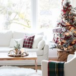 Red White Christmas Decorating New Living Room Tour