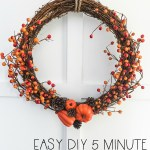 Easy Diy Dollar Store Fall Berry Wreath Diy The Happy Housie