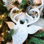 White Scandi Farmhouse Christmas Tree Decor The Happy Housie