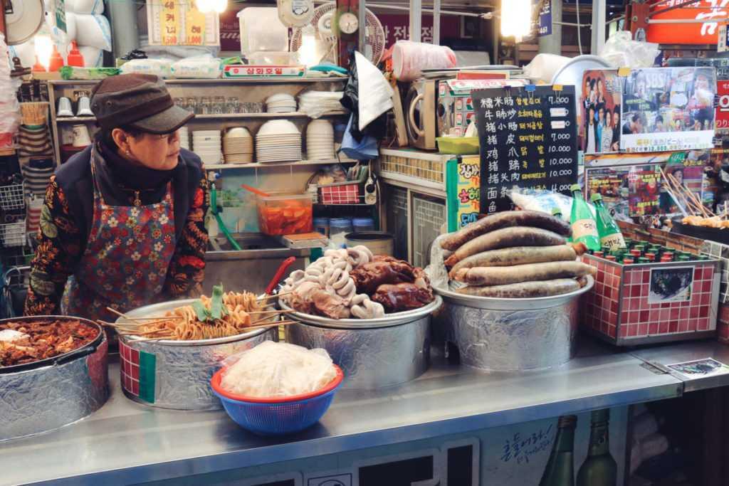 Seoul Sehenswürdigkeiten Streetfood Gwangjang Markt