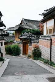 House in Bukchon Hanok Village, Seoul, South Korea