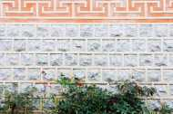 brick wall in hanok village seoul