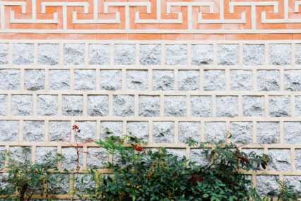 Brick wall in Hanok Village, Seoul. Korea
