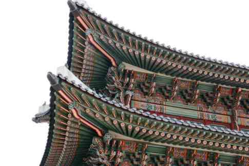 Dach, Gyeongbokgung Palast, Seoul, Korea