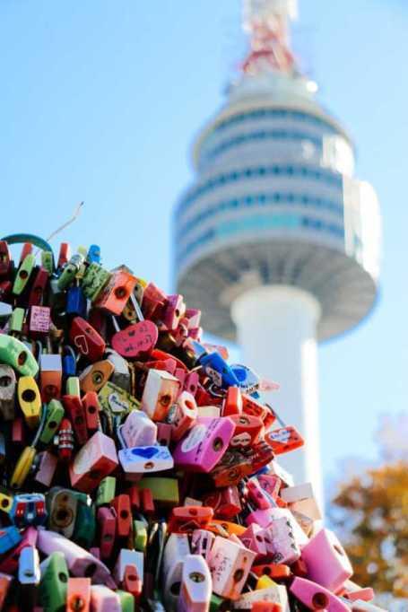 Liebesschlösser am Namsan Tower, Seoul