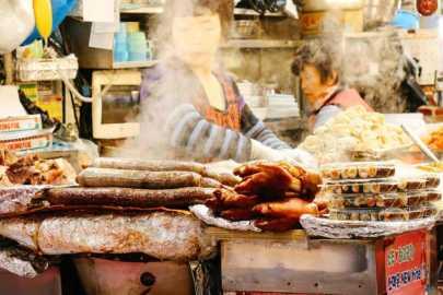 Schweinepfoten streetfood gwangjang markt