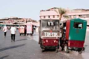Tuk Tuk Rikscha Taxi Marrakesch Place Djemnaa el fna