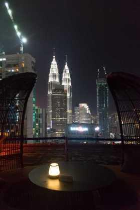Petronas Tower von Heli Lounge Bar aus
