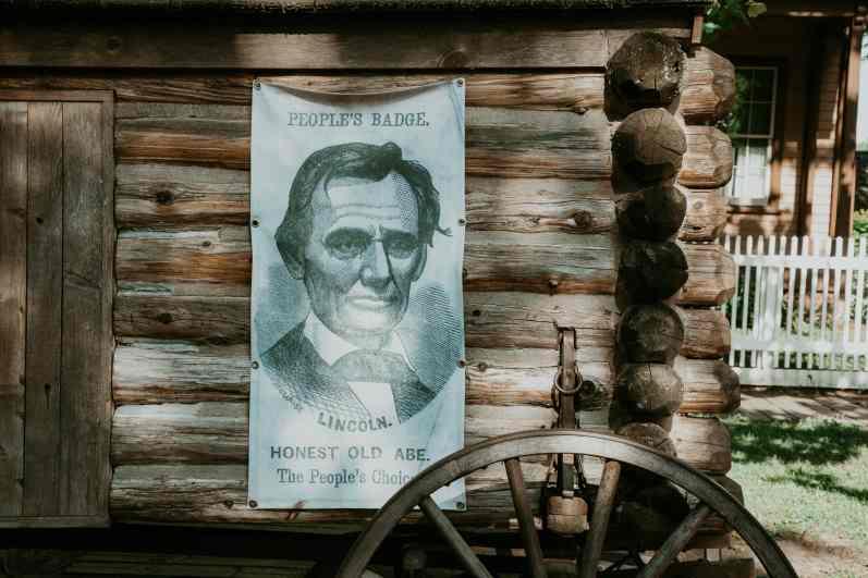Springfield Illinois Abraham Lincoln Home Plakat