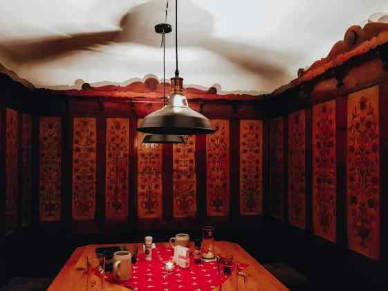 Rustikale Sitzecke Gaststätte