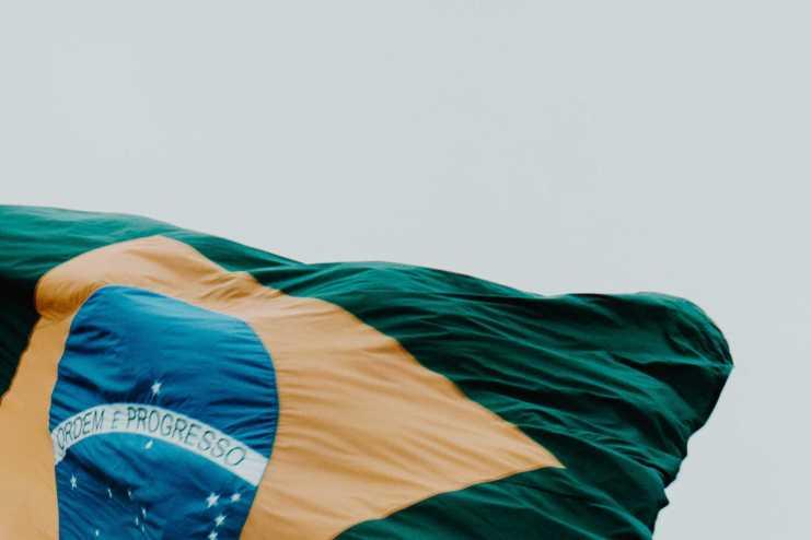 Brasilia Troca da Bandeira Flagge Fahne