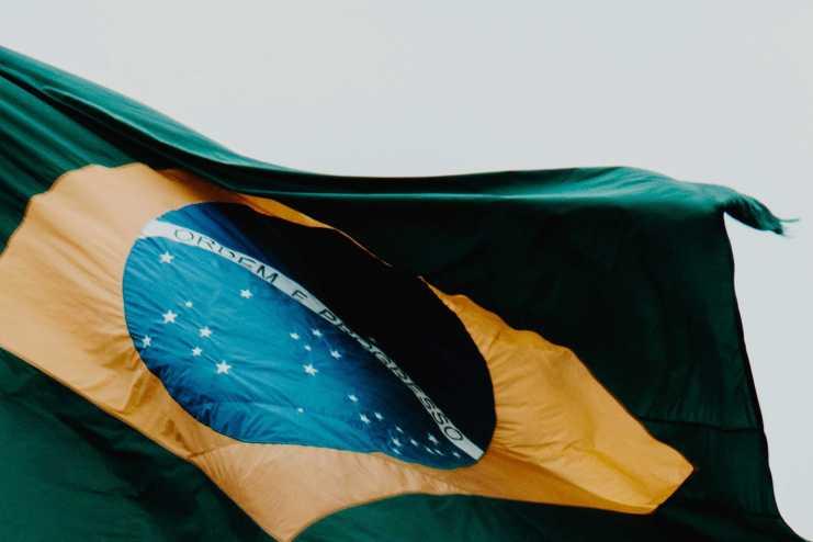 Brasilien Fahne Praca dos tres Poderes