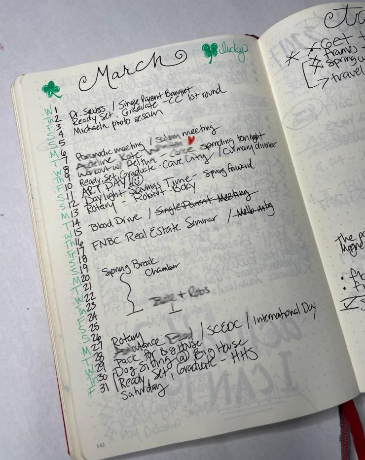 original bullet journal monthly set up