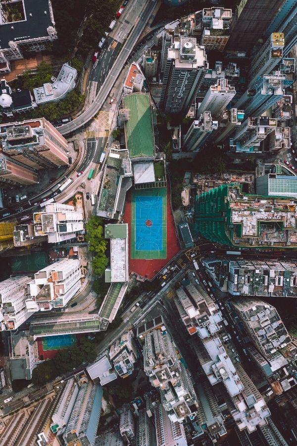 top view of hong kong