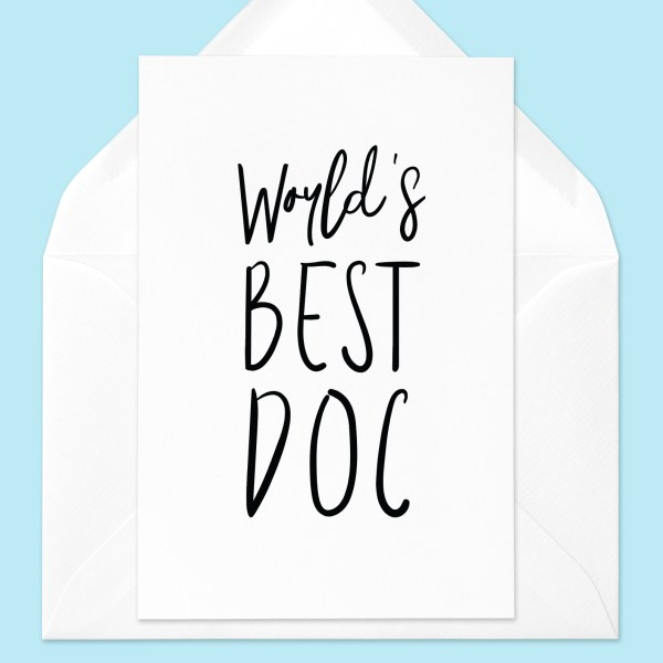 World's Best Doc Greeting Card