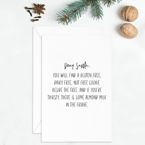 Gluten free christmas card