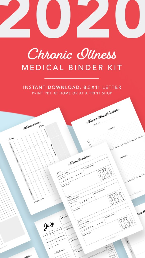 Spoonie Medical binder kit