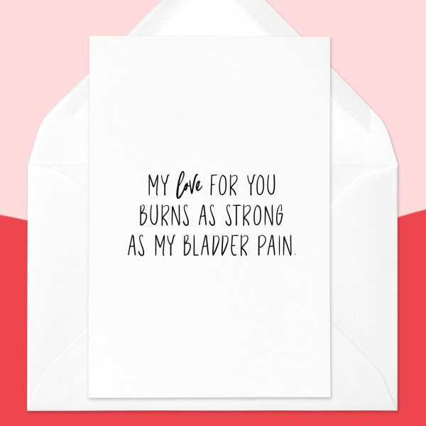 Interstitial Cystitis Valentines Card