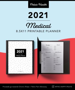 Printable 2021 Planner- pelvic health