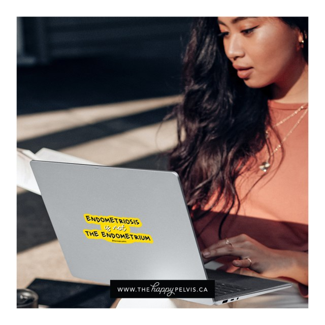 Endometriosis awareness sticker