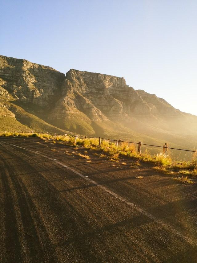 Tafelberg road sunset