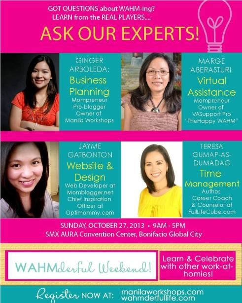 WAHMderful Weekend_Ask the Experts