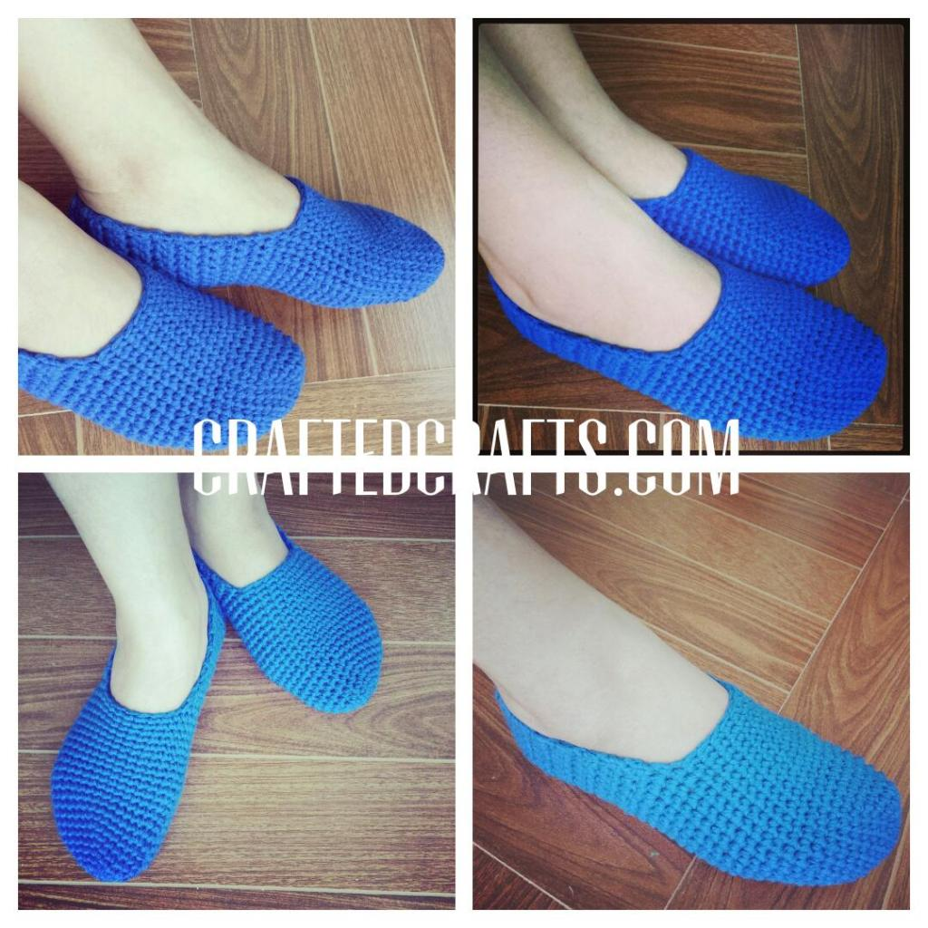 crocheted slippers 4