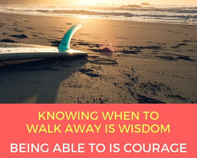 Walking Away… From A Door To A Window