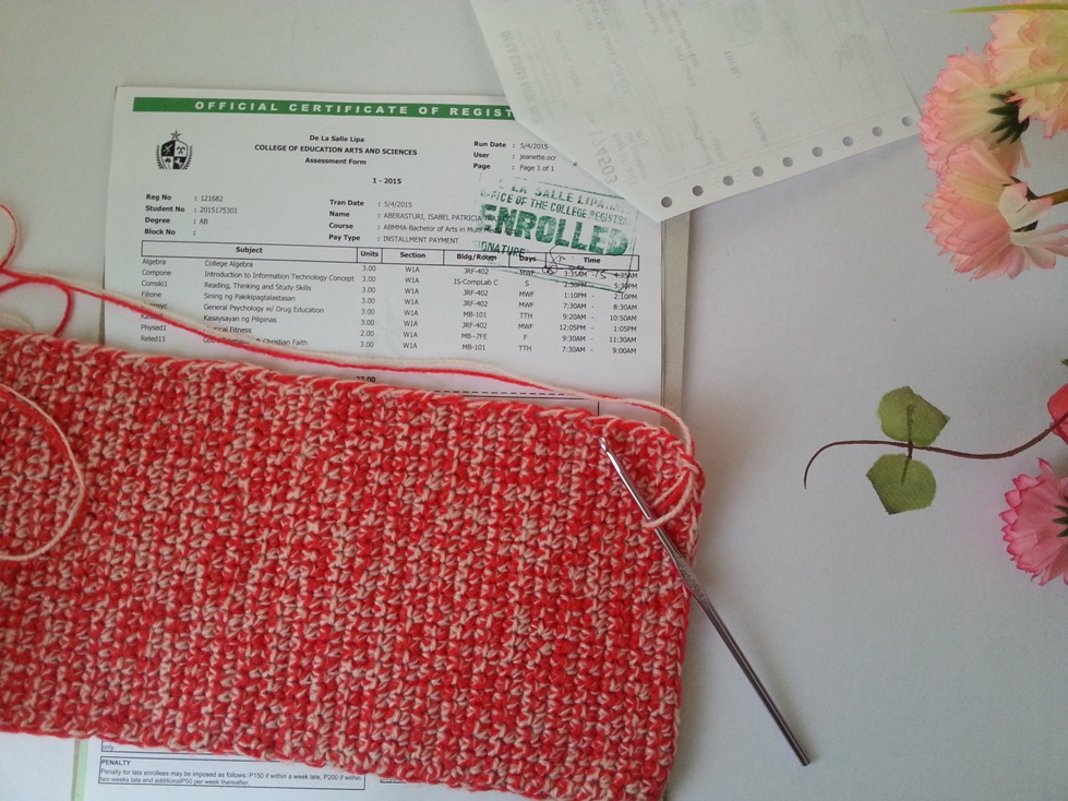crocheted tablet pouch