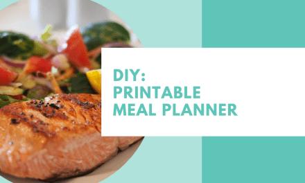 DIY: Printable Meal Planner
