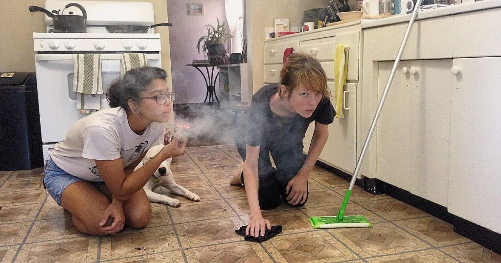 Roommate Cleans Negative Energy With Sage While You Clean