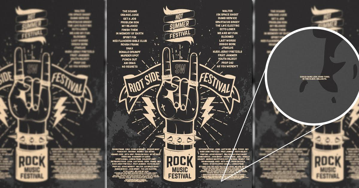 Scientists Discover New Microscopic Font for Shitty and Unknown Bands on Festival Posters