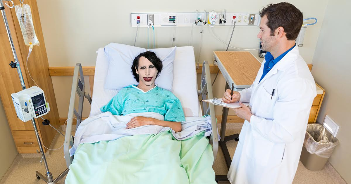Satisfied Marilyn Manson has Rib Sewn Back On