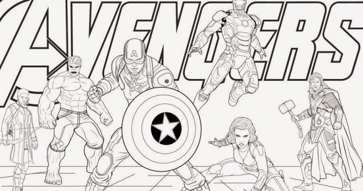 Marvel Announces Coloring Book Edition of Avengers So You Can Draw ...