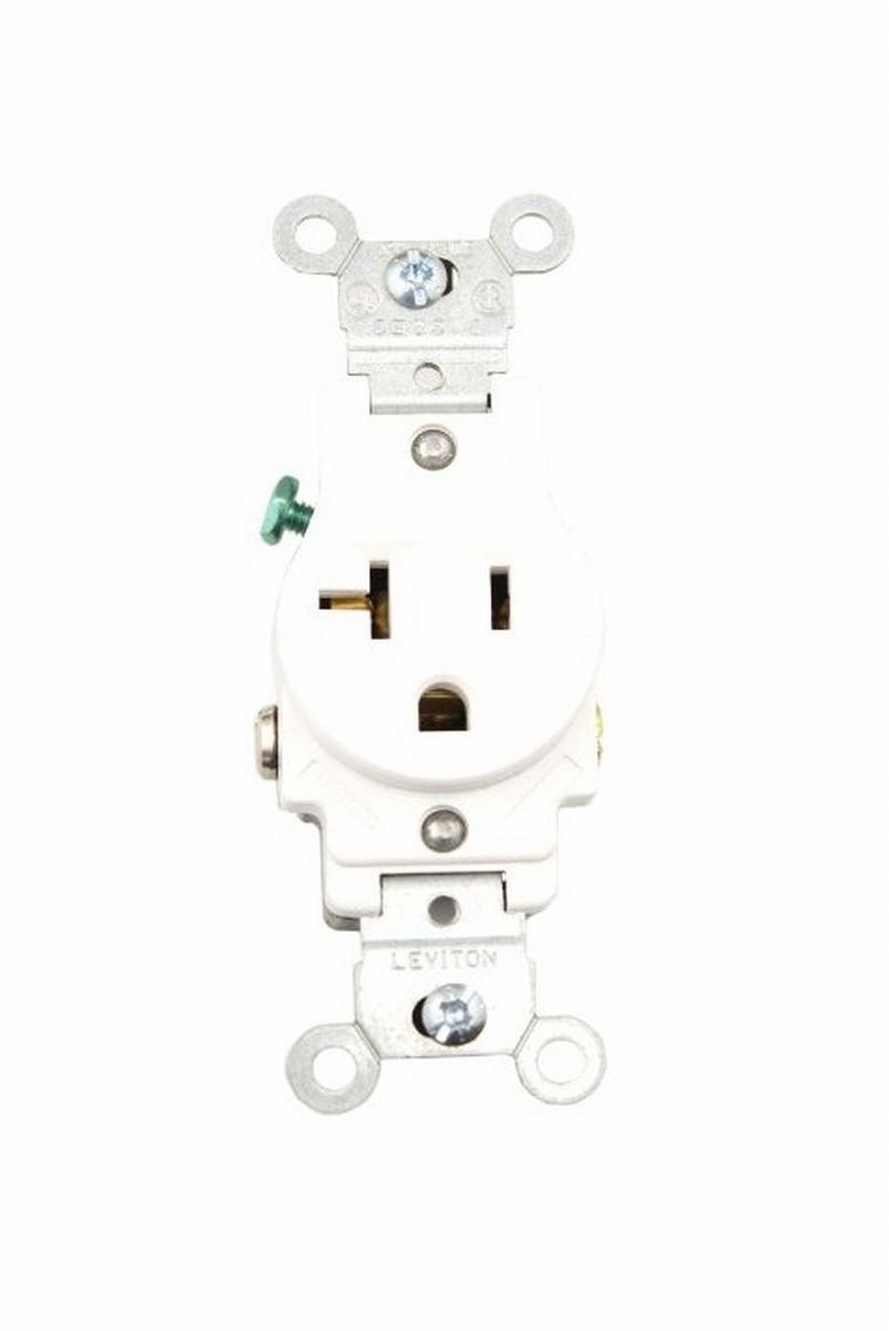 Leviton 5801-W Commercial Specification Grade Single