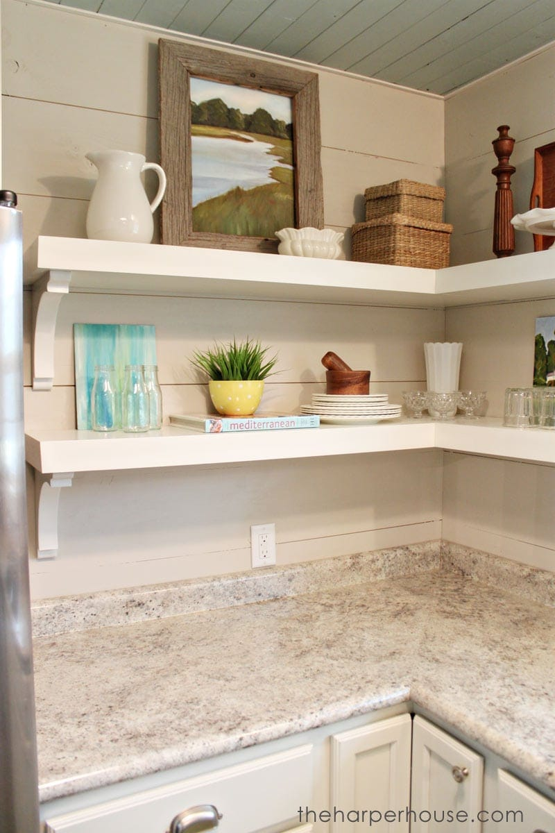 How to Add Fixer Upper Style to Your Home  Open Shelving  The Harper House