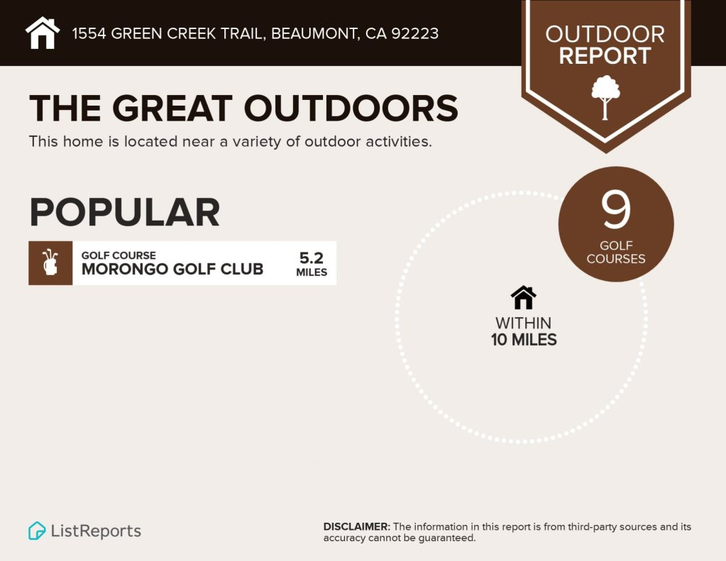 1554 Green Creek Beaumont CA 92223 Great Outdoors
