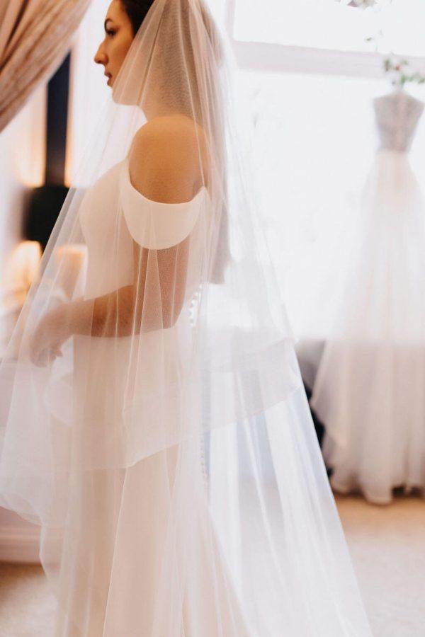 Athena Classic Veil - Shop Now | Harrogate Wedding Lounge