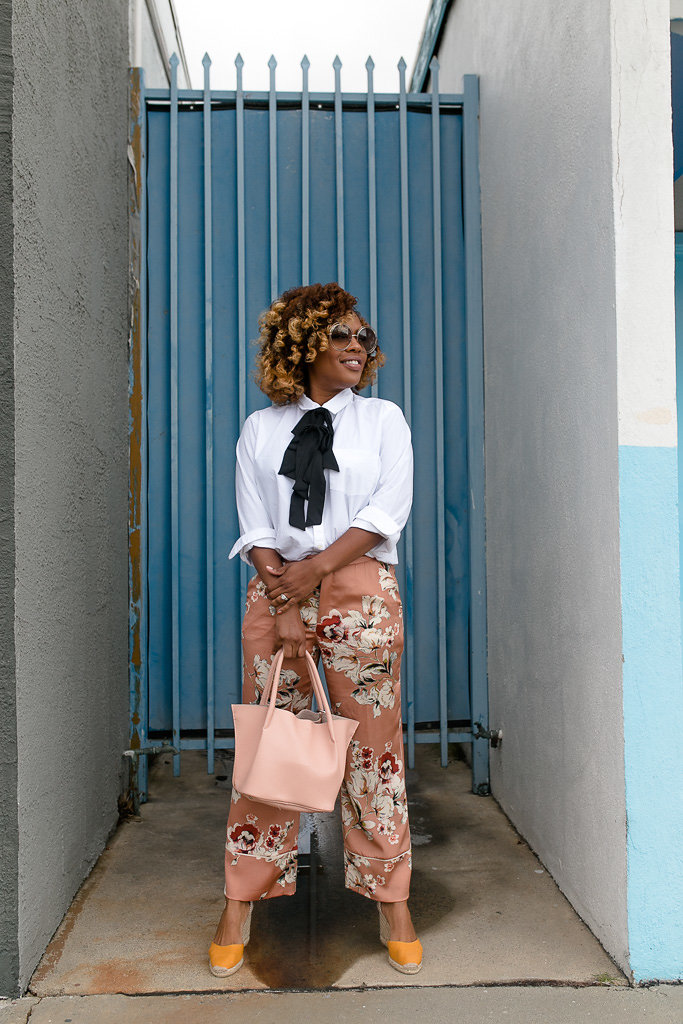 A polished pyjama look from blogger Hautemommie