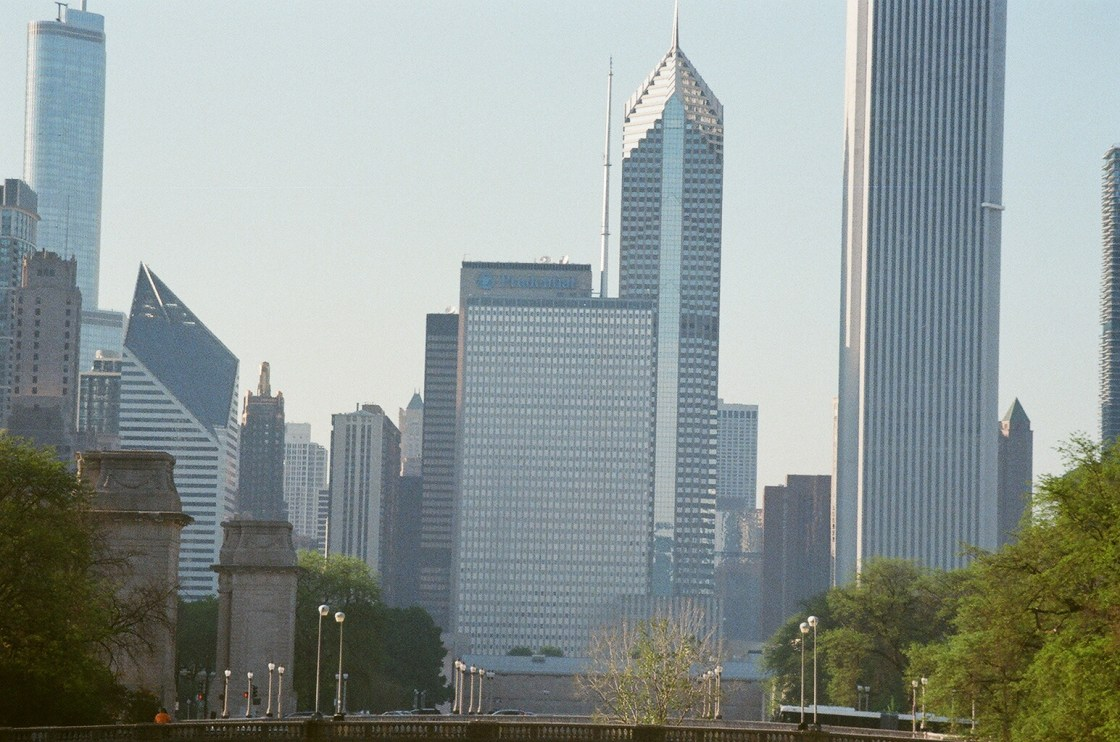 Magnificent Mile facing North from Grant Park in Chicago