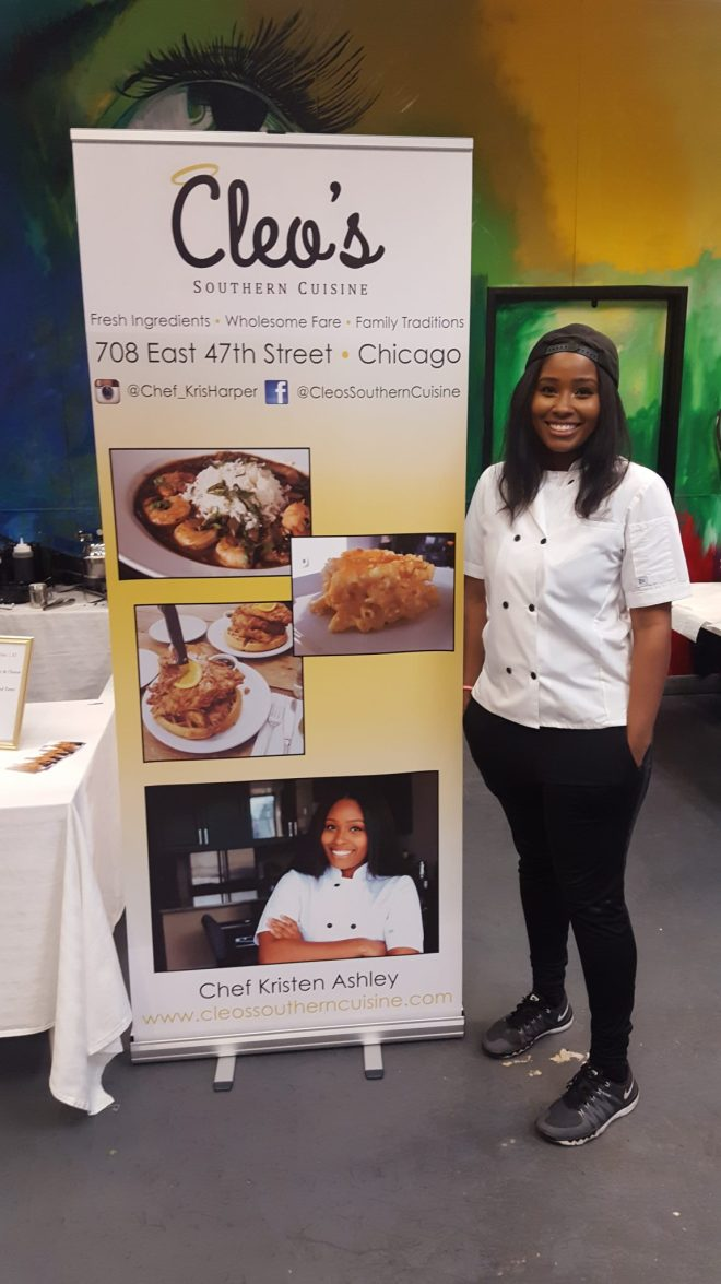 Kristen Ashley of Cleo's Southern Cuisine a featured Black Chef featured at Foodie Heave Chicago