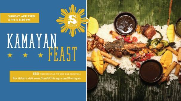 kamayan feast Flyer  weekend in Chicago April 20th-23rd