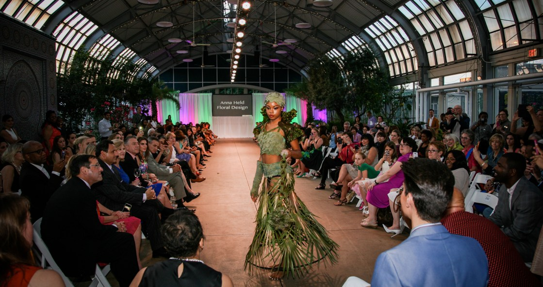 Green-Dress-Leaves-Fashion-Show as featured on The Haute Seeker