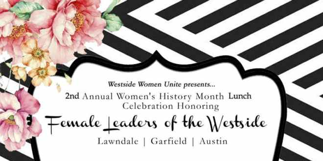 Westside Women Unite Luncheon event flyer show in ways to celebrate Women's History Month in Chicago on The Haute Seeker