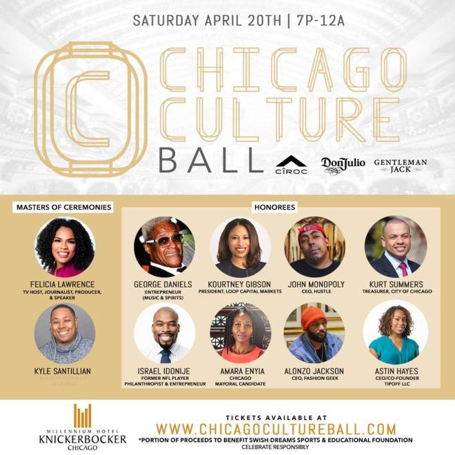 Flyer of Chicago Culture Ball  featured in Chicago April  2019 Events Guide by The Haute Seeker